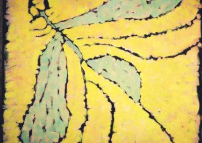 Dieldrin, 100x100, 2002, oil/woodfibre