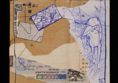 HATÁR-VONAL/BOUNDARIE-LINE -gondolatfosszilia/thought fossil 011